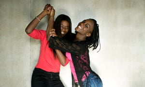 Girl power: Assa Sylla and Karidja Touré, two of the young Parisians chosen to star in Girlhood.
