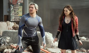 'He's fast, she's weird': Aaron Taylor-Johnson and Elizabeth Olsen in Avengers: Age of Ultron.