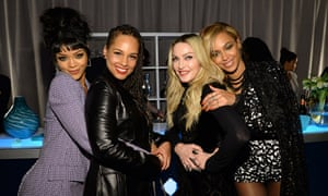 Rihanna, Alicia Keys, Madonna and Beyoncé at the Tidal launch in New York.