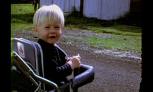 'Bleak youth': Kurt Cobain at the age of two.