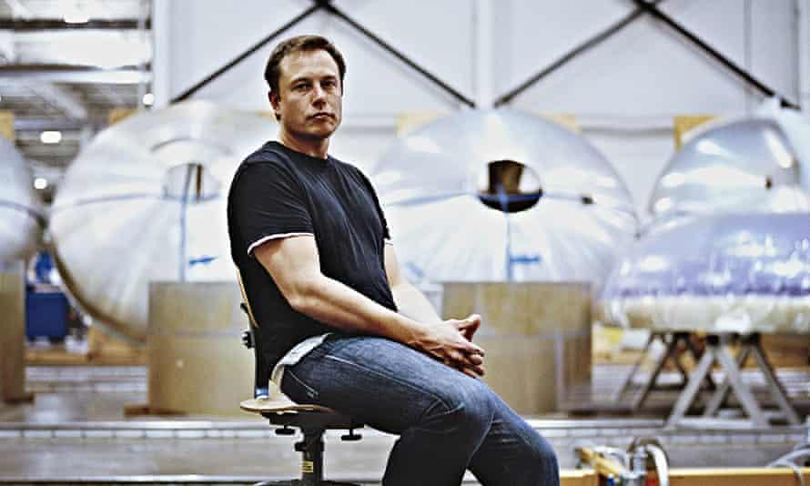 Elon Musk at Space X headquarters in Hawthorne, California.