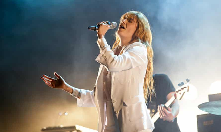 'A megaphone for a larynx': Florence Welch, pictured at the Coachella festival in California, April 2015. Photograph: Chelsea Lauren/WireImage