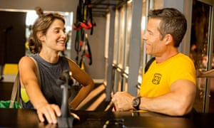 'Motivational claptrap': Cobie Smulders and Guy Pearce in Results.
