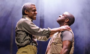 'Brutal streak': Hugh Quarshie as Othello with Lucian Msamati as Iago in Othello.