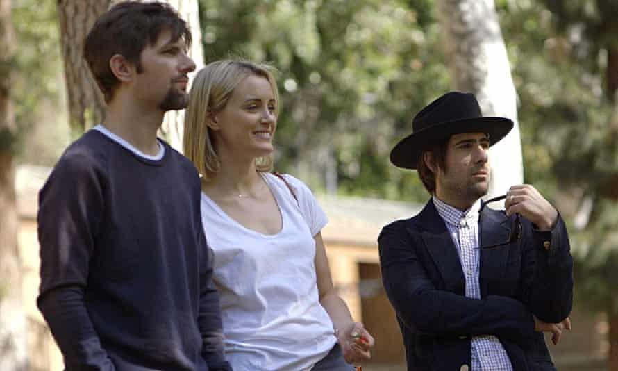 'Amiably frank': Adam Scott, Taylor Schilling and Jason Schwartzman in The Overnight.
