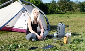 Phoebe Smith camping