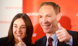 'Honest and refreshing': Kezia Dugdale, pictured in December 2014 as deputy to Jim Murphy