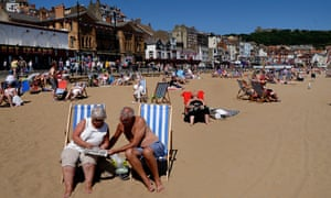 Holidaymakers on Scarborough beach