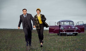 David Walliams and Jessica Raine in the BBC's forthcoming Partners in Crime.