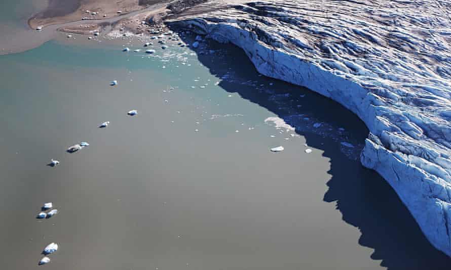 Greenland's huge ice mass meets the sea near Ilulissat.