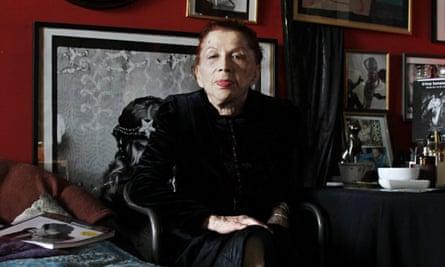 Irina Ionesco in her Paris apartment, 2010;