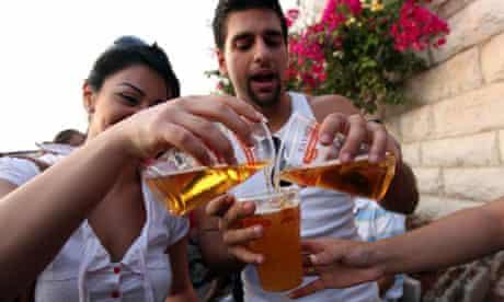 Palestinians enjoy the Taybeh Oktoberfest