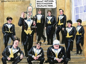 23.02.10: Steve Bell on David Cameron calling for enquiry Gordon Brown bullying