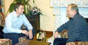 Tony Blair and Vladimir Putin