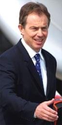 Tony Blair arrives in Geneva for the G8 summit