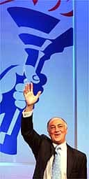 Michael Howard addresses the Conservative party conference in Bournemouth