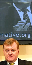 Charles Kennedy at the Liberal Democrat manifesto launch