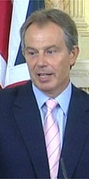 Tony Blair gives a press conference at Downing Street