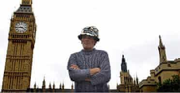 Brian Haw protesting in Parliament Square