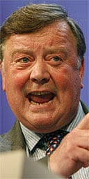 Ken Clarke addresses the Tory party conference. Photograph: Dan Chung