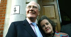 Sir Menzies Campbell with his wife Lady Elspeth Campbell