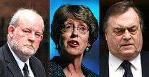 Charles Clarke, Patricia Hewitt and John Prescott