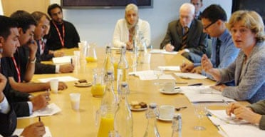 Muslim leaders at their meeting with Ruth Kelly (right), the communities secretary, in central London, August 14 2006