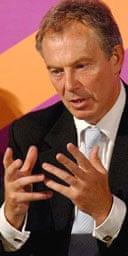 Tony Blair gives a speech on social exclusion at the Folk Hall, York, on Tuesday September 5 2006. Photgraph: John Giles/WPA/PA.