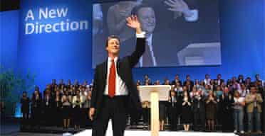 David Cameron acknowledges the applause after his keynote speech to the Conservative party conference