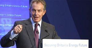 Tony Blair at the official the opening of the Langeled gas pipeline from Norway to the UK