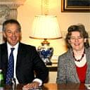 Tony Blair and Ruth Kelly address a meeting at Downing Street on January 9 2007