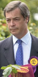 Nigel Farage canvessing for Ukip in Bromley in June 2006. Photograph: Martin Argles.