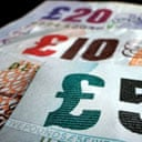 Money, cash, notes, budget. Photograph: Peter Macdiarmid/Getty Images.