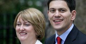 Jacqui Smith and David Miliband on June 28 2007. Photograph: Andy Rain/EPA.