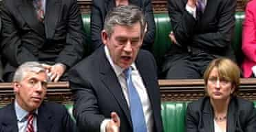 Gordon Brown at his first PMQs on July 4 2007. Photograph: PA.