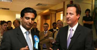 Tony Lit with David Cameron in Ealing on July 13 2007. Photograph: Johnny Green/PA Wire.