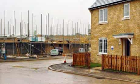 Social housing being built in in Cambridgeshire