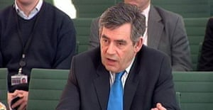 Gordon Brown at the House of Commons liaison committee on December 13 2007. Photograph: PA