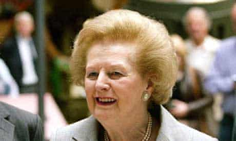 Former prime minister Lady Thatcher