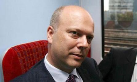 Chris Grayling in 2006. Photograph: Rebecca Reid/PA
