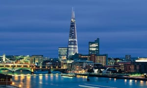 """The """"shard of glass"""" building currently under construction at London Bridge"""