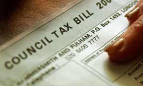 A council tax bill. Photograph: Chris Young/PA