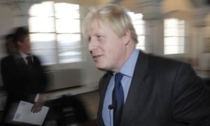 Boris Johnson launching his transport manifesto in London on March 3 2008. Photograph: Ray Tang/Rex Features