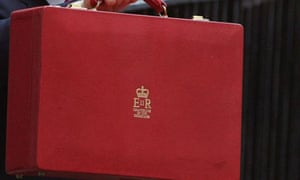 The ministerial red box on budget day in March 2007. Photograph: Matt Cardy/Getty Image