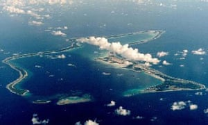 Diego Garcia. Photograph: US Dept of Defense/PA