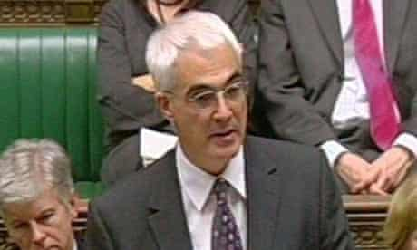 Alistair Darling in the House of Commons. Photograph: PA