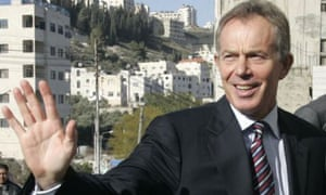 Tony Blair in Nablus, West Bank, on February 7 2008. Photograph: Abed Omar Qusini/Reuters