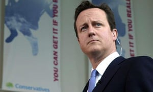 David Cameron conducts interviews prior to his keynote today