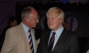 Ken Livingstone and Boris Johnson in London in October 2007. Photograph: Dave M Benett/Getty Images