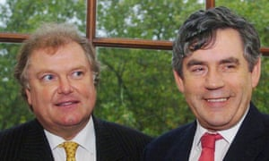 Digby Jones and Gordon Brown in 2004. Photograph: Johnny Green/PA Wire